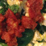 Spinach Egg Protein Exercise Recovery Lunch